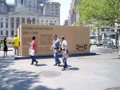 Clever ikea brooklyn ads artistic things for Does ikea deliver same day