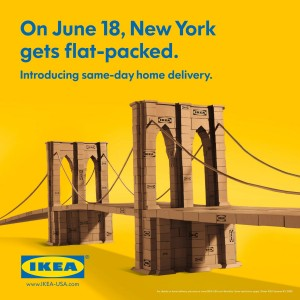 ikea brooklynbridge 300x300 Clever IKEA Brooklyn Ads