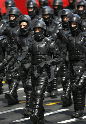 Real Cop Bulge http://artisticthings.com/peruvian-anti-riot-police-officers/