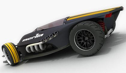 merlin2 Merlin Supercar concept   Popa Lucian
