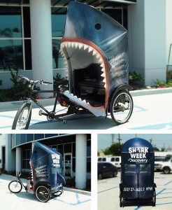 discoveryshark1 246x300 Shark Week Pedicab