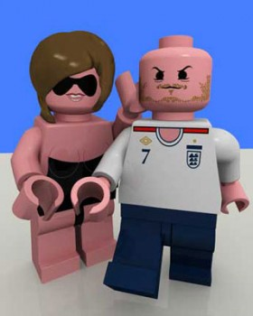 posh and beckslego  280x350 Celebrity Lego