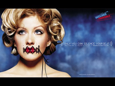 dy dlc aguilera 400x300 Hollywood wants you to vote, get into SNM