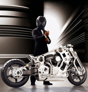 fighter motorcycle 286x300 Titanium Fighter Motorcycle Will Kick Your Ass