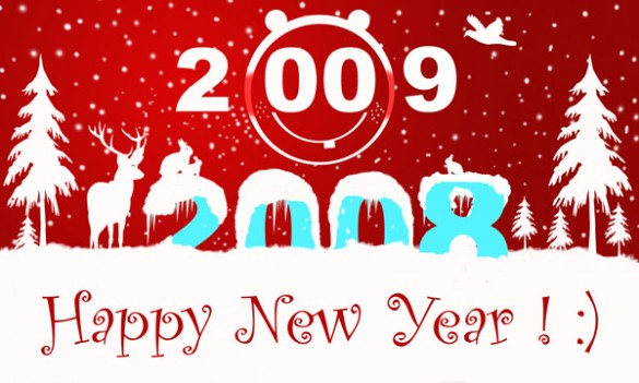 1107933 40994557 585x351 Happy New Year 2009!