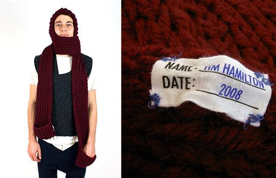 tim hamilton scarf front Tim Hamilton Scarf Hood with Pockets