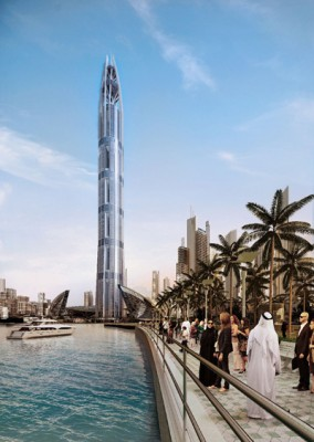 nakheeltower01 284x400 Tallest Building in Dubai