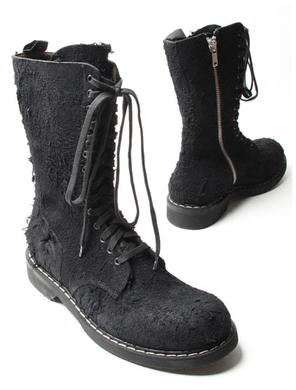 rick owens destroyed suede boot 01 Rick Owens Destroyed Suede Boots