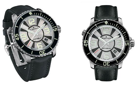 blancpain 500 fathoms diver front Blancpain 500 Fathoms Diver Watch