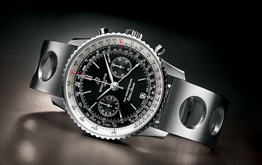 breitling navitimer 125th anniversary chronograph watch front Breitling Navitimer 125th Anniversary