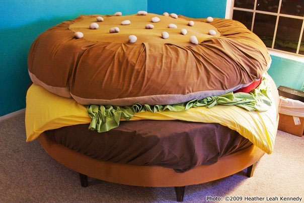 hamburger bed Lay Your Fatty on a Patty