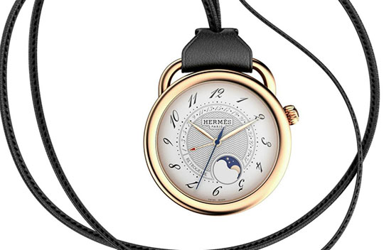hermes retrograde pocket watch 01 Hermes Arceau Moonphase Retrograde Watch