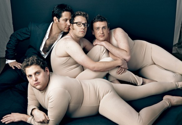 jonahhillpaulruddsethrogenjasonsegel 584x400 Vanity Fairs Tribute To The Funny Men Of 2009