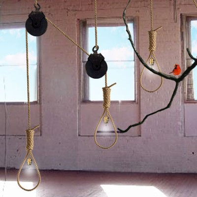 noose light by ana maria pasescu stewart squ noose installation 1 400x400 Noose Light  Not Exactly the Best Christmas Gift, But Still Cool