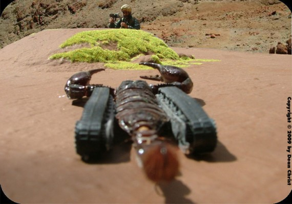 scorpiontank3 570x400 Cyborg Bugs Artificially Intelligent Insects Gone Wild