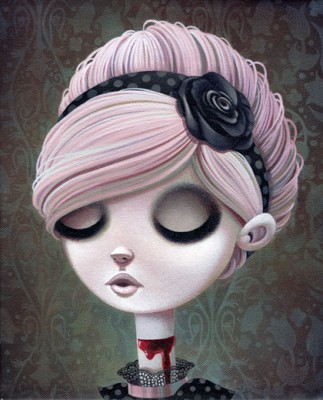 shannonbonatakis2 323x400 Beautiful New Works From Artist Shannon Bonatakis Or What I Like To Call...Emo Barbie