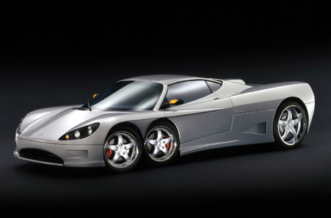 studio 1 C6W   the first six wheeled supercar