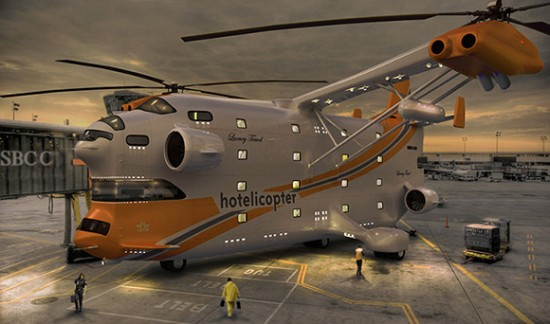 hotelicopter 550x324 Too weird to be true
