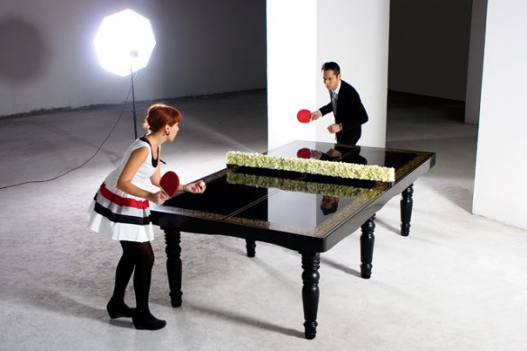 hunn wai x mein x corian ping pong dining table photo by daniel peh kl 01 585x390 Ping Pong
