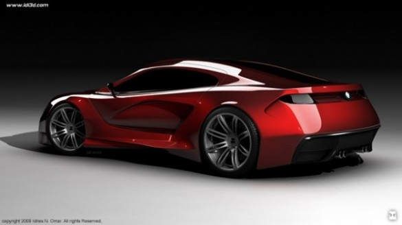04 bmw m supercar concept 600x337 585x328 Idries Noah Showcases BMW M Concept