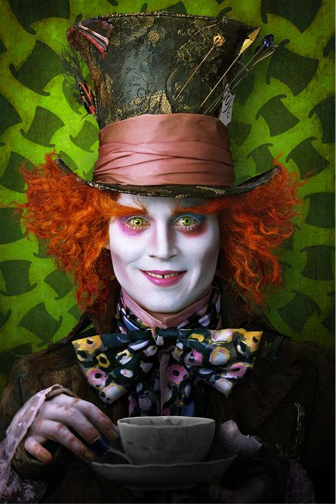 alice in wonderland mad hatter Tim Burton falls down the rabbit hole