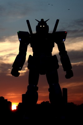 gundam 12 large 266x400 Gundam Comes To Life, Transformers Feel Left Out