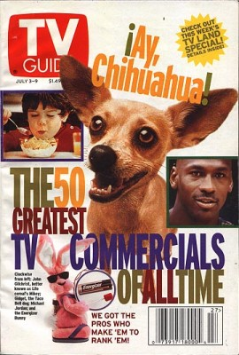 gidget tvguide taco bell dog dies 50 greatest commercials of all time 270x400 The Only Reason to Go to Taco Bell is Gone