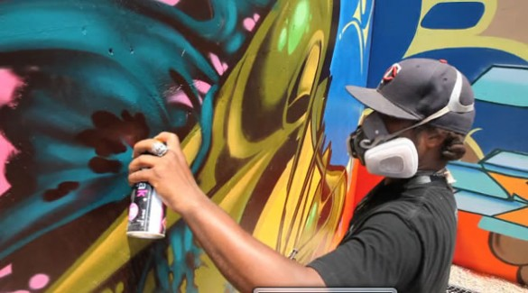 graf 2 585x325 Graffiti Wall Jam