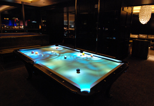 table 1 Obscura CueLight Pool Table.
