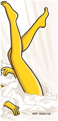 Untitled 193x400 Marge Simpson + Playboy Mag