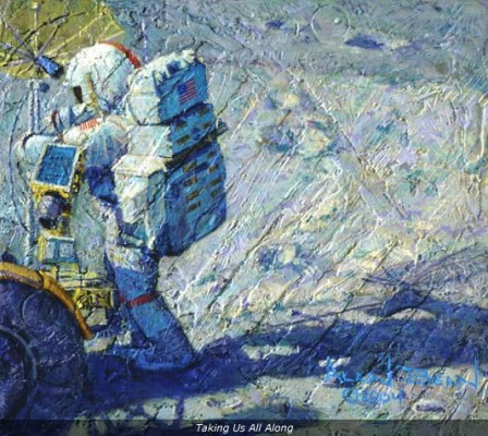 2004 Taking Us All Along 448x400 The Man on the Moon... was a Painter
