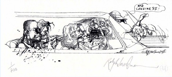02badcrazysteadman 585x263 Ralph Steadman is the Mirror Man