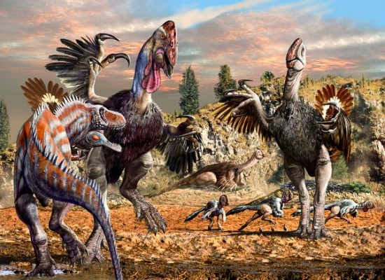 dino art or birds 550x400 My T rex is an Ostrich?? Dinos evolve in Art