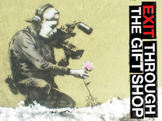 exit through the gift shop banksy 532x400 Elusive Street Artist Banksy Revealed... Well not exactly