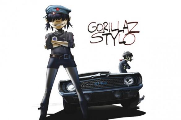 gorillaz stylo pic 1 585x389 Gorillaz   Stylo