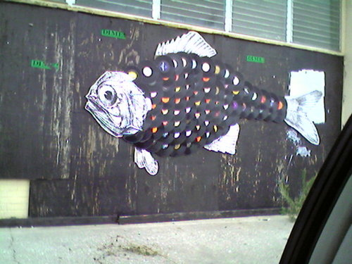 fish2 Mixed Media Graffiti the Natural and the Unnatural?