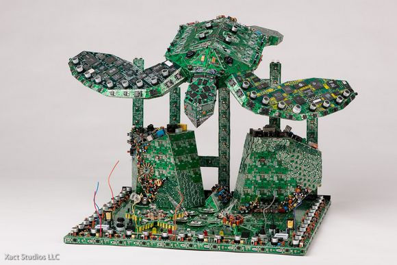 steven rodrig 1 Circuit Board Sculptures Remind me of the Earth