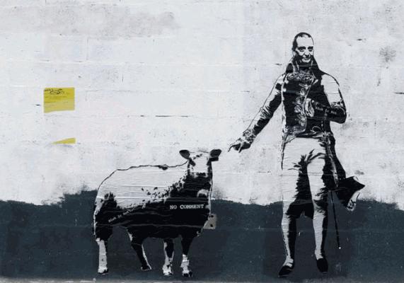 blek le rat2 571x400 Blek le Rat: Grandfather of Stencilled Graffiti