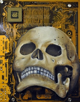 circuit board art2 550x698 315x400 Motherboard Art by Joe Dragt