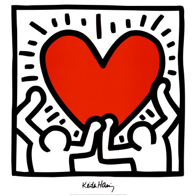 keith haring heart Howie Pyro Collection Exhibit One Night Only